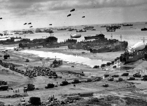 D-Day landing craft.