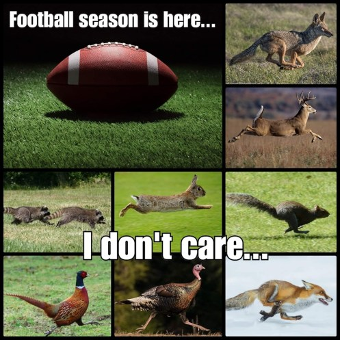hunting season vs football
