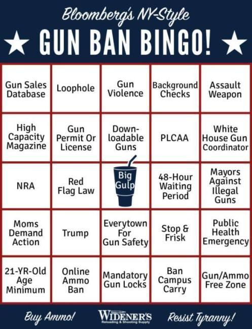 bloomberg gun ban bingo