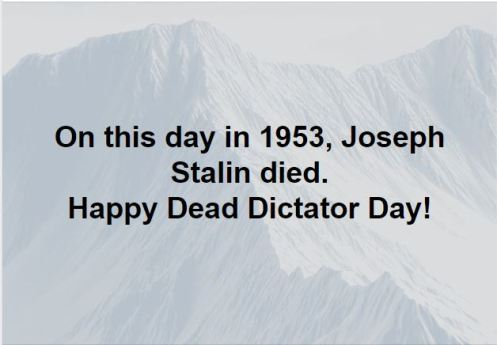 Dead dictator day